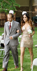 (caity_miller) Tags: flowers wedding outside gold shiny dress indiana suit bridesmaid groomsmen shimmer sequin outdoorwedding greenfieldindiana