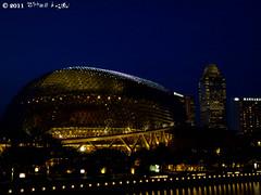 night_4 (Squall EC) Tags: river hotel bay flyer singapore esplanade mbs marinabay raffleshotel singaporeflyer marinabaysands
