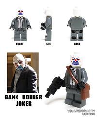 LEGO BANK ROBBER JOKER MINIFIGURE (ykwan0714) Tags: lego bank joker robber minifigure thedarkknight legojoker