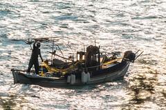 Human power (Siminis) Tags: sunset sea backlight fishing fisherman waves power aegean greece fishingboat sunsetlight gera backlighted fishingnets mytilene aegeansea sunsettime humanpower gulfofgera siminis
