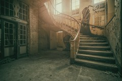 Reaper (blende einspunktacht) Tags: urban art canon reaper decay stairwell hdr urbex lostplaces verlasseneorte