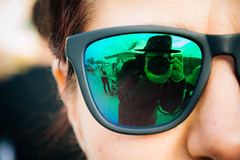 Shades of green (lorenzoviolone) Tags: summer portrait italy sunglasses reflections myself mirror reflex seaside nikon streetphotography shades reflected streetphoto dslr hawkers fiumicino lazio selfie fujiastia100f fav10 vsco d5200 nikond5200 vscofilm streetphotocolor walk:fiumicino=june16