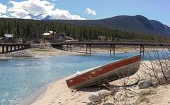 Carcross, Yukon (Nathan Mullin) Tags: blue lake water boat glacier