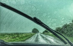 The storm (Nige H (Thanks for 4.8m views)) Tags: storm nature car rain weather landscape stormy rainy windscreen windscreenwiper bankholidayweekend