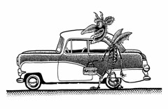 Road candy (Don Moyer) Tags: auto moleskine car ink notebook drawing devil vehicle nash moyer metropolitan brushpen automibile donmoyer