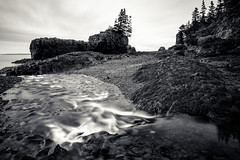 i can just coast (Port View) Tags: longexposure blackandwhite bw canada monochrome river mono coast spring rocks novascotia tide falling le shore bayoffundy fundy stacks 2016 baxtersharbour cans2s fujixe2
