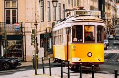 Tram No. 28 (freyavev) Tags: street city urban portugal yellow outdoor lisboa lisbon tram retro trams lisabon tramtracks vsco