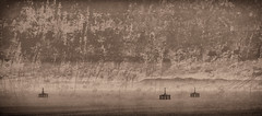 on the down (MB3142) Tags: old landscape mono golden rust rig oil copper