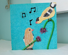 PCAGOE- Song birdshttp://playsculptlive.blogspot.ca/2016/06/music-is-language-of-love.html (playsculptlive) Tags: pcagoe polymerclay playsculptlive birds song music