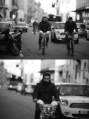 [La Mia Citt][Pedala] con il BikeMi (Urca) Tags: portrait blackandwhite bw bike bicycle italia milano bn ciclista biancoenero mir bicicletta 2016 pedalare dittico bikesharing nikondigitale bikemi 85580 ritrattostradale