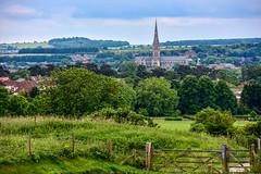 Through a Gate to Salisbury (Nikki & Tom) Tags: uk cathedral salisbury wiltshire oldsarum