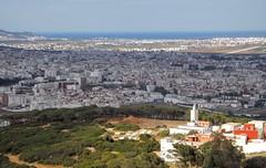 Ttouan Panorama (Yassine Abbadi) Tags: road bridge sea sky cloud mountain beach grass plane sunrise buildings spring hill mosque morocco maroc hdr tetuan tetouan martil bouanane