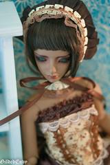 Preview: caramel machiatto set (Micheescloset) Tags: brown set ball asian doll dress handmade tan clothes sd lolita luv bjd envy 13 gilded abjd jointed zaoll handmadebrowntanzaollluv