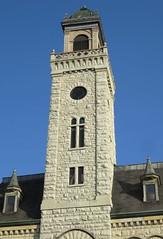 Old Waukesha County Courthouse Tower (Waukesha, Wisconsin) (courthouselover) Tags: wisconsin waukesha wi waukeshacounty courthouseextras robertgkirschjr milwaukeemetropolitanarea