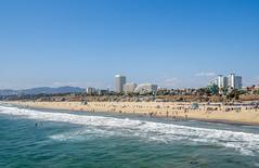 Santa Monica Beach (Kernich Photos) Tags: santamonicapier santamonica santamonicaca santamonicabeach beach sea ocean water beachscene losangeles california usa america waves pacificocean downtownsantamonica ca jetty