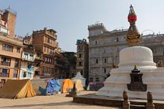 DS1A4349dxo (irishmick.com) Tags: nepal kathmandu 2015 yetakha baha chhetrapati stupa earthquake shelter