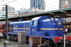 Transport Heritage NSW - 4001 stands on Platform 3, Sydney Central Railway Station (john cowper) Tags: sydney newsouthwales longweekend centralrailwaystation 4001 heritageexpress 40class transportfornsw transportheritagensw