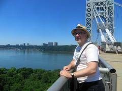 Jim on GWB (edenpictures) Tags: newyorkcity hat dad manhattan jim hudsonriver fathersday georgewashingtonbridge washingtonheights