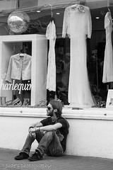 Fashion can be bought.Style one must possess.  Edna Woolman Chase (judethedude73) Tags: people urban bw white black window fashion vintage sussex brighton dress display lace candid streetphotography style streetlife unposed