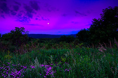 Moon Rise 2 (jfusion61) Tags: flowers sunset moon mountains evening fuji country maryland moonrise lee western fujifilm rise filters frostburg graduated xpro2