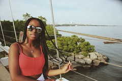 (cassandra.frater) Tags: bridge summer toronto water girl sunglasses fashion fun pretty views blackout blackgirl blackgirls melanin ootd tumblr boxbraids