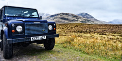 Defender 90 (cylynex) Tags: landrover scotland defender defender90 truck offroad mountains hills scenery landscape uk europe cloudy overcast travel travels travelphotography wander explore nikon d800 santocommarato