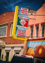 Viva Los Comales! (Pete Zarria) Tags: illinois taco mexico tamales eat restaurant sign bulbs neon tortilla hispanic