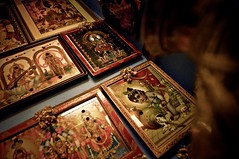 Pictures of all gods in the praying room of local indian people. Chennai, India (SUNA_PHOTOGRAPHY) Tags: life india wall god indoor ganesh indianculture prayingroom religieon pictureofasia