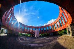 Cloud eye (meleshko.alex) Tags: ukraine europe sky clouds hdr fisheye 8mm architecture building round soviet ussr fujifilm fuji xt1 samyang samyang8mm rokinon rokinon8mm travel trip street