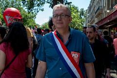 Pierre Laurent (dprezat) Tags: street people paris nikon contest protest pcf politique manifestation opposition d800 particommuniste syndicat nikond800 loitravail elkohmri