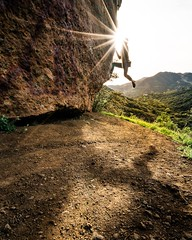 Bouldering in the Santa Monica Mountains (justinbastien) Tags: california sunset photography climb photo action climbing bouldering rockclimbing justinbastien