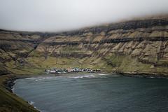 Tjornuvik, Faroe Islands (Sunny Herzinger) Tags: travel sea mist mountain fog bay village fjord fo faroeislands tjrnuvk streymoy fujixpro2 fujinonxf23mmf14r
