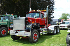 1987 Mack Superliner (Trucks, Buses, & Trains by granitefan713) Tags: mack macktruck classic vintage antiquetruck atca macungie truckshow showtrucks superliner macksuperliner mackrw tractor trucktractor daycab nonsleeper heavy haul