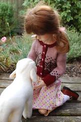 On the farm (Little little mouse) Tags: dollstown ganga megan dt7 bjd dollfie lynnknit giftfromafriend steifflindalamb