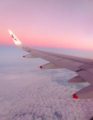 Pink Sky (Antnio A. Huergo de Carvalho) Tags: world pink sky high wings aviation wing rosa cu airbus asa avio winglet mundo aviao voar a320 voo asas airbusa320 avianca prony aviaocomercial sharklet