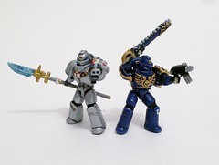 Custom Mega Bloks Warhammer 40k Space Marines (funnystuffs) Tags: 3 grey dawn war action space 40k knights franz warhammer karl marines figures mega ultramarines bloks funnystuffs