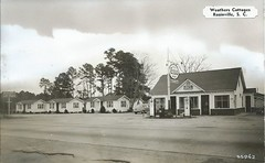 Weathers Cottages - Rosinville SC (us301Retro) Tags: postcard gasstation roadside dexter esso weathers rosinville schistory touristcabins dexterpress weatherscottages weathersgrill rosinvillesc