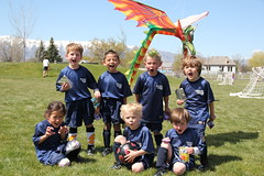 Group picture with the dragon kite 4 (roaring) (Aggiewelshes) Tags: ben soccer may sean peter olsen cailin grouppicture 2013 dragonkite teamdragons