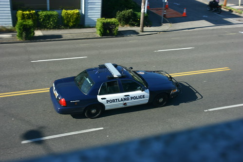 2 of 3. Portland Police CVPI, Burnside, 5/9/13