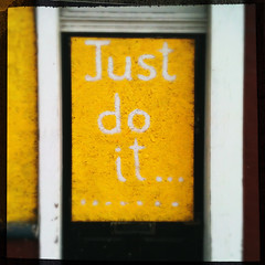 Just do it... (Leo Reynolds) Tags: graffiti f28 262 3gs iphone iso64 hpexif 0001sec leol30random iphoneography iphone3gs hipstamatic xleol30x grouphipstamatic groupamazingiphone