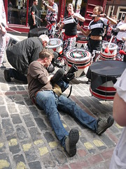 P1080076 (What's a widget?) Tags: camera drums soho cobbles drummers cameraman batala rupertst