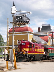 Conway Scenic RR (Littlerailroader) Tags: railroad train newengland newhampshire trains trainstation transportation locomotive trainspotting locomotives railroads trainstations railroadstation northconway conwayscenicrailroad northconwaynewhampshire touristrailroads scenicrailroads