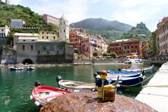 Travels of badger - Vernazza, Cinque Terre (enigmabadger) Tags: italy italian riviera lego liguria terre minifig custom cinque minifigure brickarms