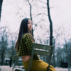 (Kl) Tags: park cute 120 film girl beauty rolleiflex colorful luxembourg portra 28f chinesegirl