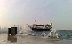 -  (~. Xerox .~) Tags: sea water ship splash qatar