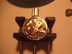 DSCF4309 (bigjohnf1) Tags: macro stem mechanical small watch hobby automatic crown wrist gears making jewel 1965 bulova
