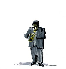 Wallace Roney, Jazz at Lincoln Center (inklines) Tags: music newyork art illustration comics drawing cartoon culture trumpet jazz comix caricature penandink jazzatlincolncenter wallaceroney livedrawing michaelarthur uploaded:by=flickrmobile flickriosapp:filter=nofilter