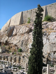 115 - Acropolis wall (Scott Shetrone) Tags: plants other events places athens parthenon greece monuments acropolis 5th anniversaries cyprustree