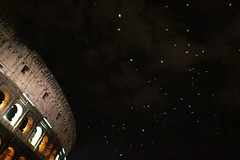 Colosseum & Seagulls (Toni Kaarttinen) Tags: city italien italy seagulls rome roma bird monument birds night dark italia roman seagull amphitheatre colosseum nighttime empire glowing coliseum rom italie lazio colosseo romo italio