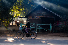 bagan (as1974) Tags: travel color canon asia 7d myanmar bagan bicicletta birmania